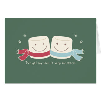 Marshmallow Love Holiday Greeting Card