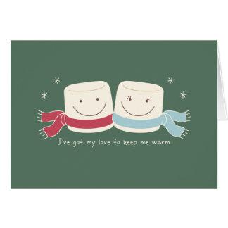 Marshmallow Love Holiday Greeting Card