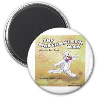 Marshmallow Man 2 Inch Round Magnet