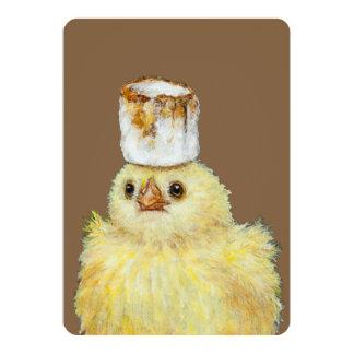 Marshmallow Peep flat card