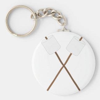 Marshmallow Roast Basic Round Button Keychain