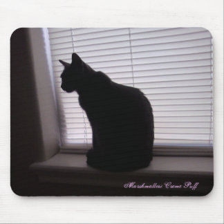 Marshmallow Silhouette Mousepad