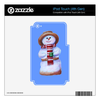 Marshmallow Snowman iPod Touch 4th Gen Skin iPod Touch 4G Decals