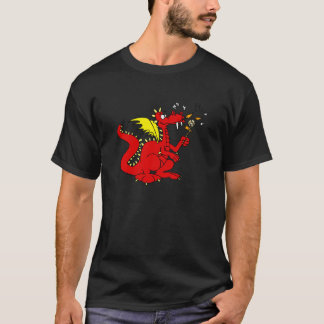 Marshmallow Toasting Dragon T-Shirt