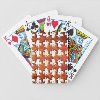 Marshmallow Unicorn Bicycle Playing Cards