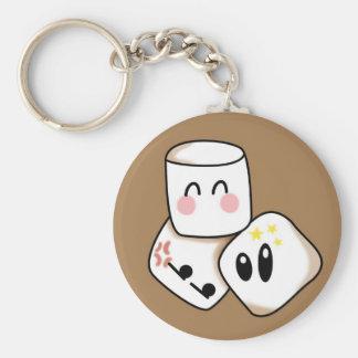Marshmallows Basic Round Button Keychain