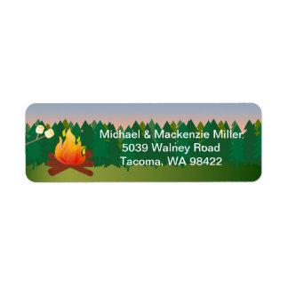 Marshmallows Campfire Label