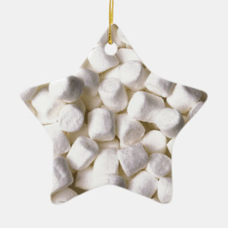 marshmallows ceramic ornament