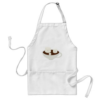 Marshmallows in hot chocolate adult apron