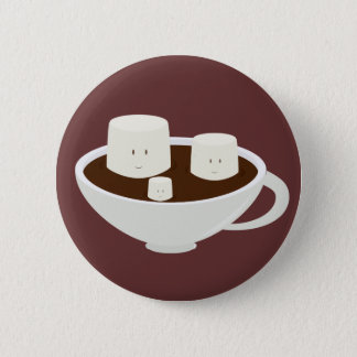 Marshmallows in hot chocolate button