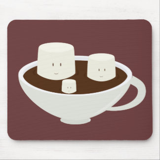Marshmallows in hot chocolate mousepad