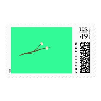 Marshmallows on stick stamp