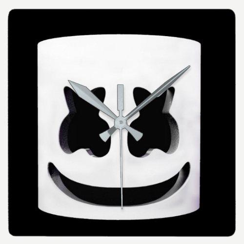 Marshmello Square Wall Clock