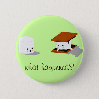 marshmellows pinback button