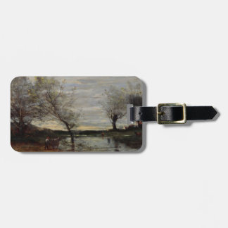 Marshy Pastures by Camille Corot Bag Tags