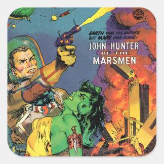 Marsmen Square Sticker