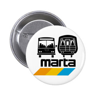 MARTA Bus and Train Pinback Buttons