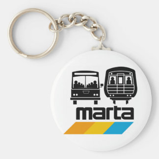 MARTA Bus and Train Keychain