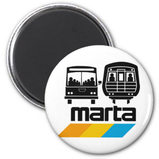 MARTA Bus and Train Magnet