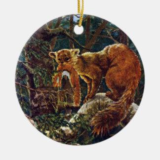 Marta de pino con la presa ornamentos para reyes magos