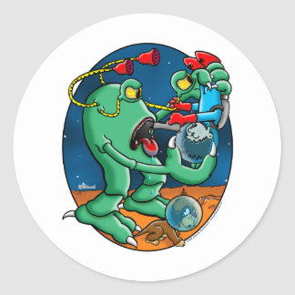 Martain Monster Classic Round Sticker