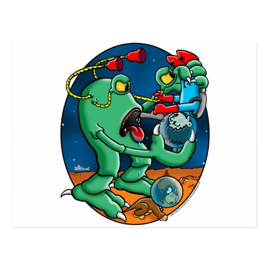 Martain Monster Postcard