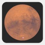 Marte 3 pegatina cuadrada