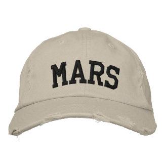 Marte bordó el gorra gorra de beisbol