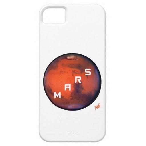 Marte -- Caso misterioso del iPhone 5 del planeta Funda Para iPhone 5 Barely There