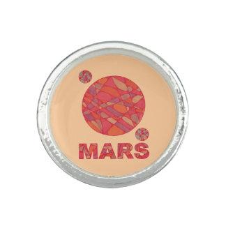 Marte el personalizado rojo de la joyería del anillos