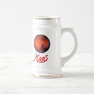 Marte - el planeta rojo - cerveza Stein Jarra De Cerveza