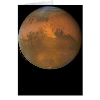Marte el planeta rojo en tarjetas y postales