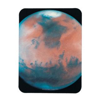 Marte en la oposición imán de vinilo