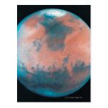 Marte en la oposición tarjeta postal