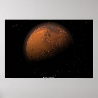 Marte en sombra parcial impresiones
