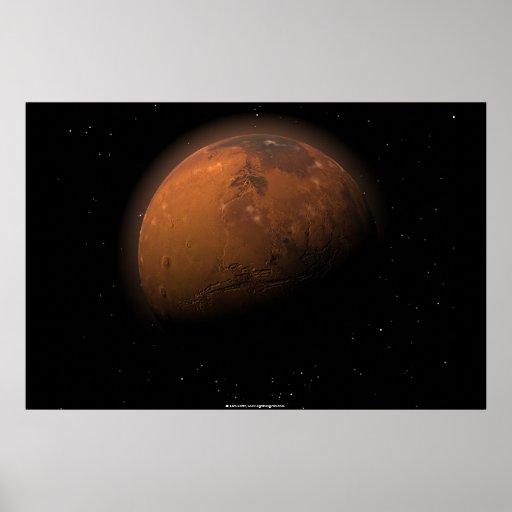 Marte en sombra parcial póster