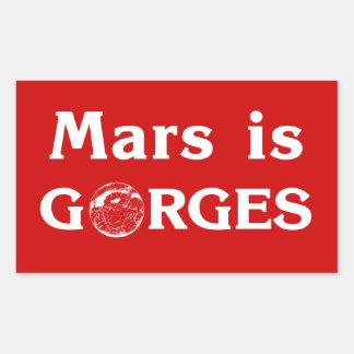 Marte es pegatina para el parachoques de las