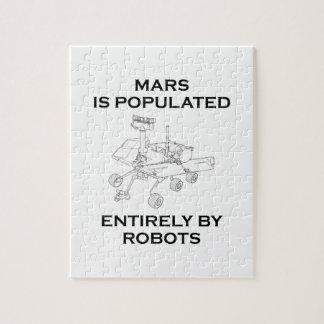 Marte es poblado totalmente por los robots puzzles con fotos