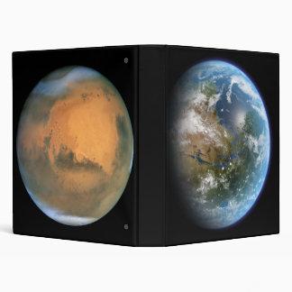 Marte hoy y carpeta Avery de Marte Terraformed