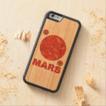 Marte la diversión roja de la Sistema Solar del Funda De iPhone 6 Bumper Cerezo