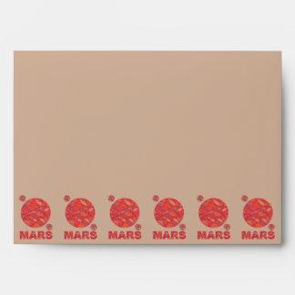 Marte la diversión roja de la Sistema Solar del Sobres