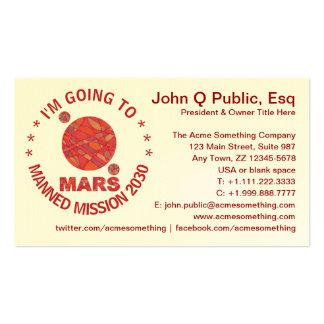 Marte la diversión roja de la Sistema Solar del Tarjetas De Visita