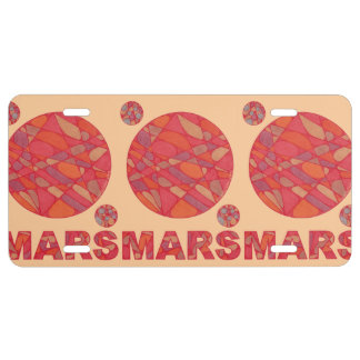 Marte la Sistema Solar del planeta del friki rojo Placa De Matrícula