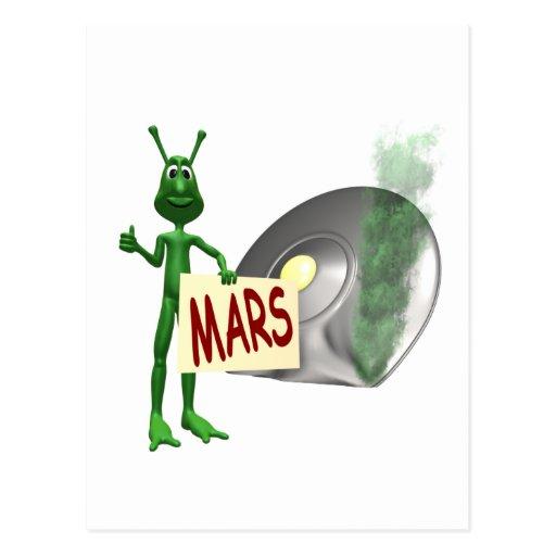 ¡Marte o busto! Postal