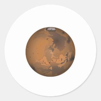 Marte Pegatina Redonda