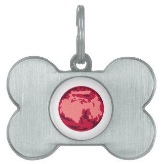 Marte Placas De Mascota