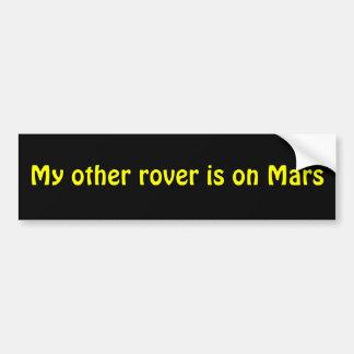 Marte Rover Pegatina De Parachoque