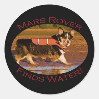 Marte Rover Pegatina Redonda