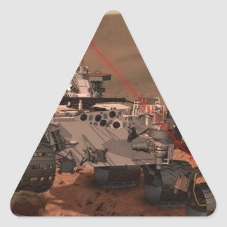 Marte Rover Pegatinas De Triangulo Personalizadas