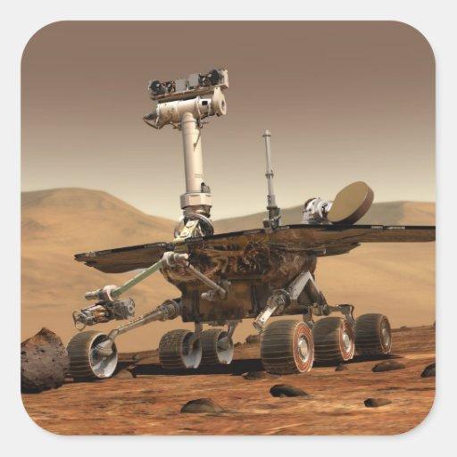 Marte Rover Pegatina Cuadrada